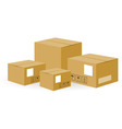 Brown Shipping Boxes vector image