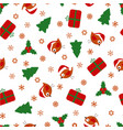 christmas pattern with birds vector image