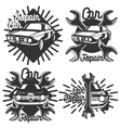 Vintage Car repair emblems vector image