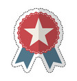 american frame with ribbon and star vector image
