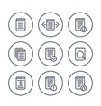 reports account records finance documents icons vector image vector image
