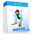 Wall tear off calendar winter vector image vector image