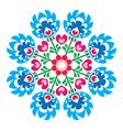 Polish round folk art pattern - Wzory Lowickie vector image