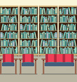 Reading Seats In Front Of A Bookcase vector image vector image