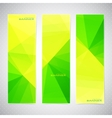 Vertical Polygonal Set of Banners in green and vector image
