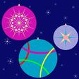 christmas globes vector image
