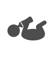 Baby with bottle pictogram flat icon isolated on vector image