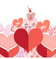 bright lovers heart vector image