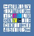 cmyk typography concept vector image