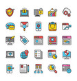 digital and internet marketing icons set 4 vector image
