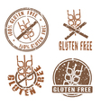Gluten Free Stamps vector image