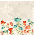 Happy spring Poppy flower vector image