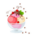 isolated ice cream on white with currant vector image