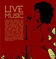 live music concert poster vector image