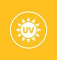uv radiation icon in circle vector image