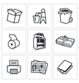 Waste paper icons vector image
