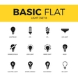 Basic set of light icons vector image vector image