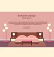 web design banner of elegance bedroom interior vector image vector image