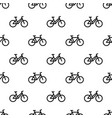 pattern with line bikes vector image