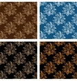 Set of floral seamless persian design vector image vector image