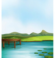 Lake vector image vector image