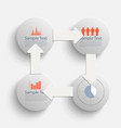 circle timeline vector image