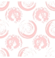 Pink blots on white background vector image