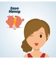 Save Money design Financial item Colorfull vector image
