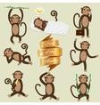 Set of Chinese Zodiac - Monkeys vector image