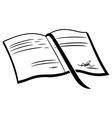Book symbol vector image vector image