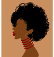 African woman in profile vector image
