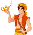 aladdin and the wonderful lamp vector image