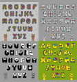 artistic vintage alphabets vector image