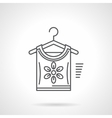 Blouse on hanger flat line icon vector image