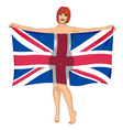 buttock with flag vector image
