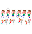 children movement sequence vector image