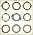 Classic Round Ornament vector image