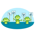 eco frogs signs vector image