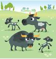 Farm animals cow set vector image