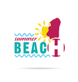 girl with summer beach and sun vector image