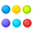 Set of colorful balls on white background vector image