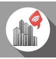 Smart city design technology icon multimedia vector image