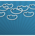 3d white clouds vector image