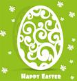 Easter egg openwork appliques postcard vector image vector image