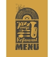 menu for the restaurant with jazz music vector image