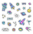 set of space pins patches vector image vector image