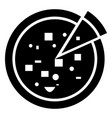 black pizza icon with part vector image