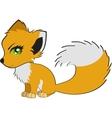 Cute cartoon fox vector image vector image