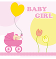 baby girl birthday card vector image vector image