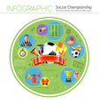 Soccer Infographics vector image